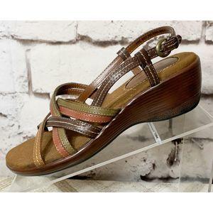 Croft and Barrow Marne Leather Multi Strap Sandal
